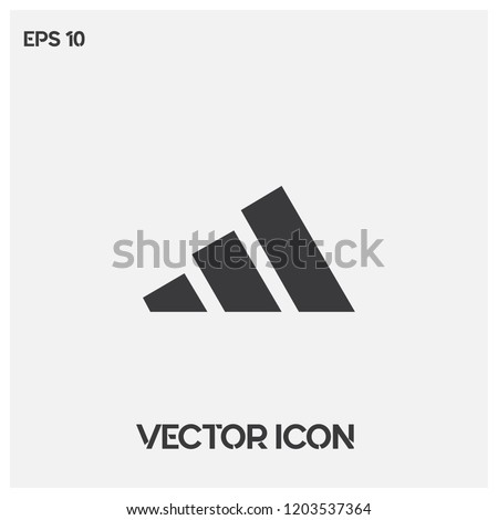 adidas vector icon illustration