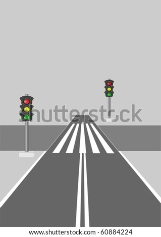 Adjustable crosswalk, on a gray background.