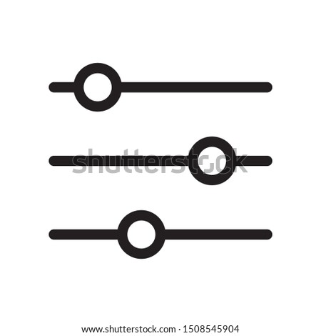 Adjustment button icon design. Adjustment button icon in flat style design. Vector illustration. Foto stock ©