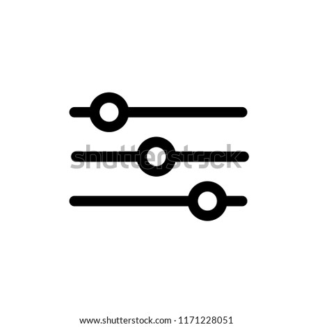 Adjustment button icon vector.