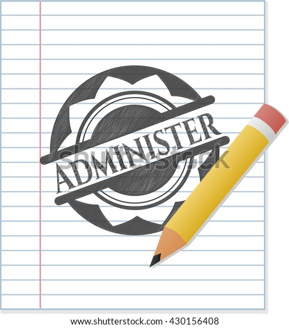 Administer emblem draw with pencil effect