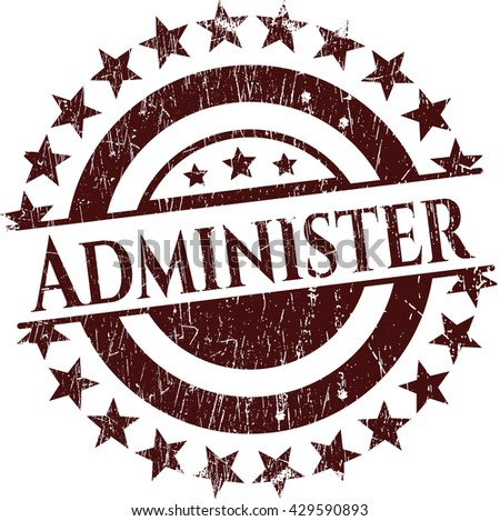 Administer rubber grunge texture seal