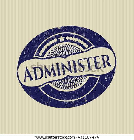 Administer rubber stamp