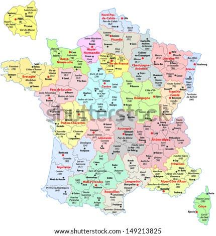 administrative divisions of France Photo stock ©