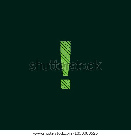 admiration symbol, green texture with slanted lines, speed and movement Foto stock ©