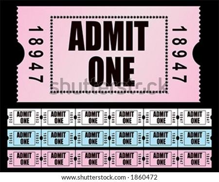 Admit One Tickets - vector