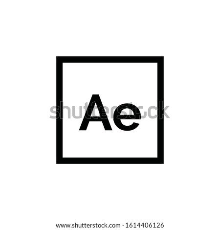 Adobe After Effects icon vector. Ae symbol. Linear style sign for mobile concept and web design. Adobe After Effects symbol illustration. Pixel vector graphics - Vector.