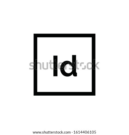 Adobe InDesign icon vector. Linear style sign for mobile concept and web design. Id symbol illustration. Pixel vector graphics - Vector.