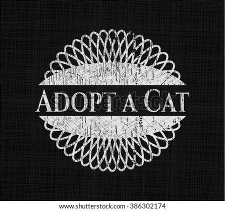 Adopt a Cat chalk emblem