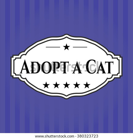 Adopt a Cat colorful banner