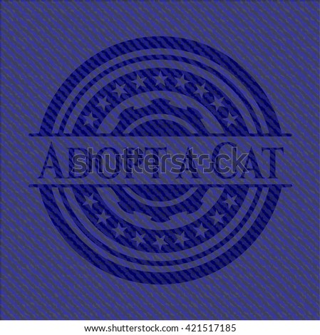 Adopt a Cat emblem with jean high quality background