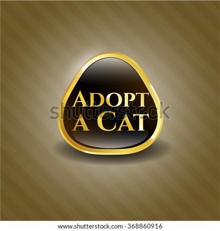 Adopt a Cat gold badge or emblem