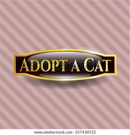 Adopt a Cat gold shiny emblem