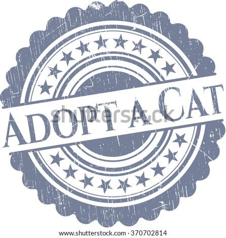 Adopt a Cat rubber grunge texture stamp