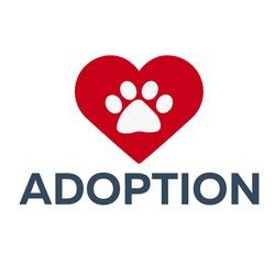 Adopt logo. Dont shop, adopt. Adoption concept. Vector illustration