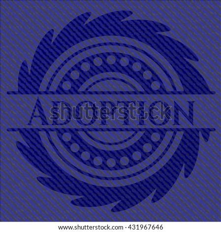 Adoption emblem with denim texture