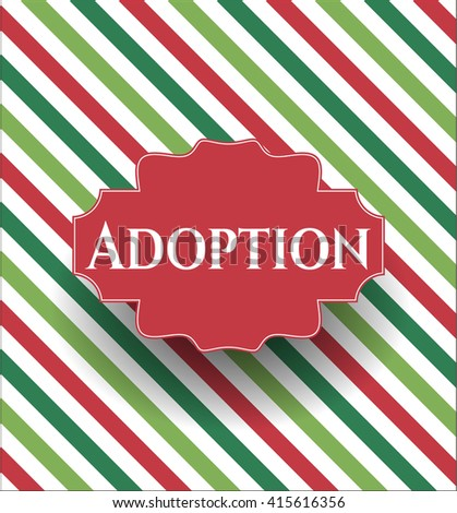Adoption poster or card