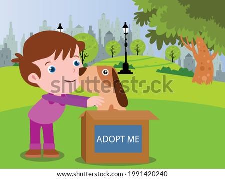 adoption vector concept happy