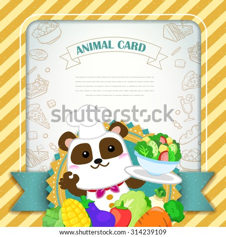 adorable animal card template