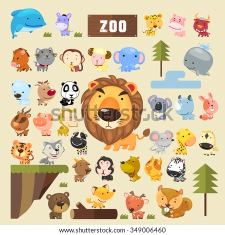 adorable animals collection set