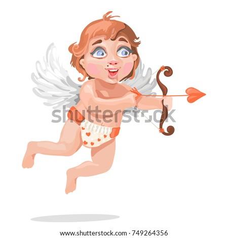 adorable baby cupid in diaper