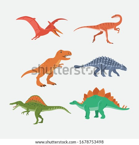 adorable cartoon dinosaur