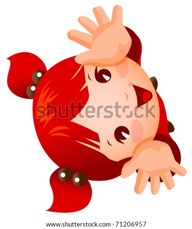 adorable child - stock vector