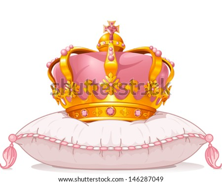 adorable crown on the pillow