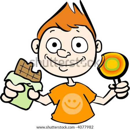 Baby Eating Cake Clipart : Cartoon Eating Candy Cake Ideas and Designs