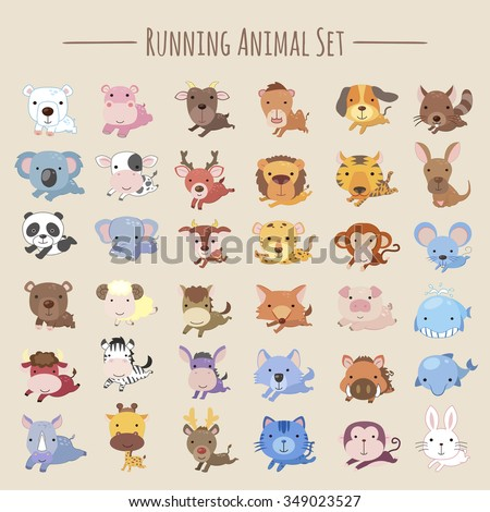 adorable running animals