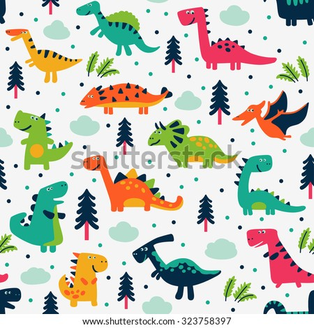 adorable seamless pattern with