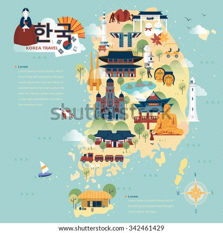 adorable south korea travel map