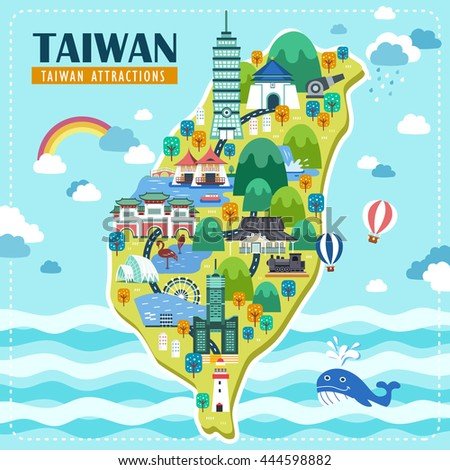 adorable taiwan travel map