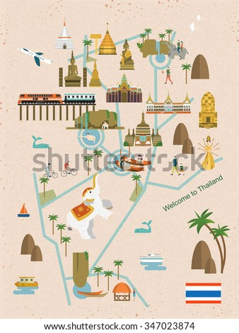adorable thailand walking map