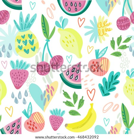 adorable vector pattern of