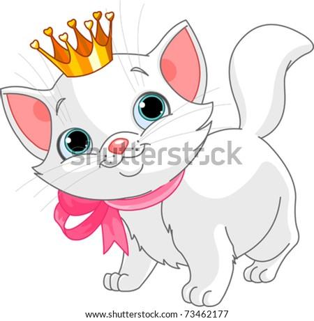 adorable white kitten with