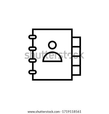 adress book icon vector line style design Photo stock ©