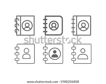 Adress book line vector icon set Photo stock ©