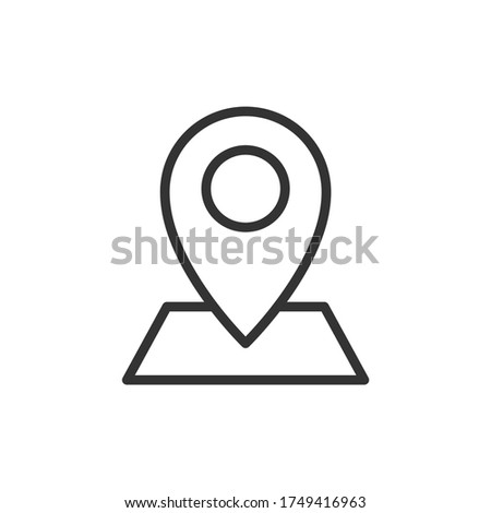 Adress location outline icon. Vector illustration. Photo stock ©