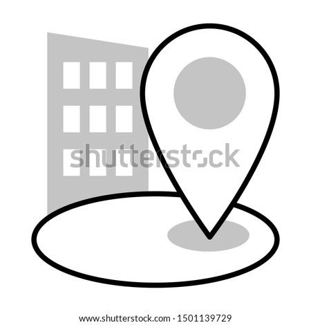 adress thin line vector icon Photo stock ©