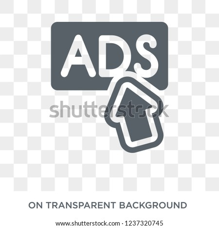 Ads icon. Ads design concept from  collection. Simple element vector illustration on transparent background.