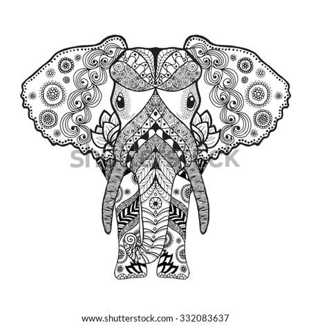 adult antistress coloring page