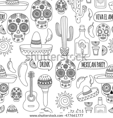 Royalty-free Set of vector elements. Mexican theme.… #358842053 ...