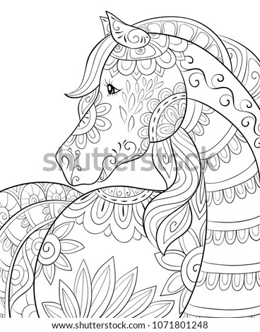 adult coloring book page a cute