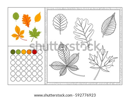 adult coloring book page with
