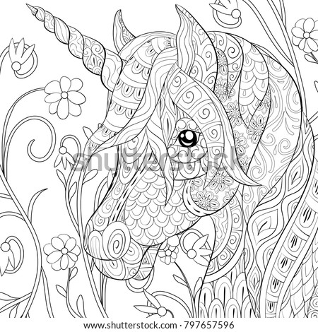 adult coloring page book a cute