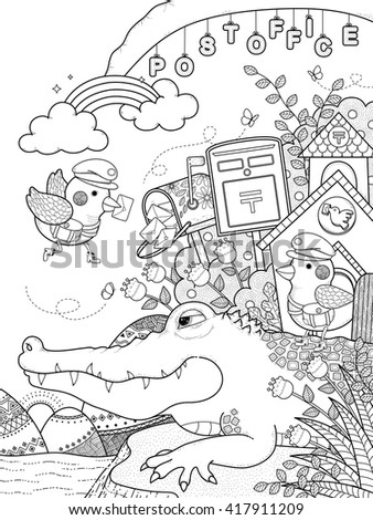 adult coloring page   cute...