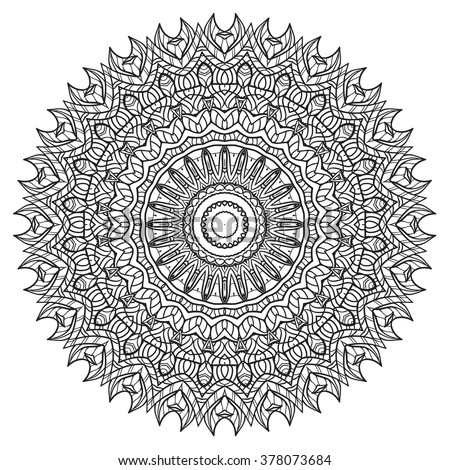 Adult Coloring Page Mandala Vector For Art Coloring Book