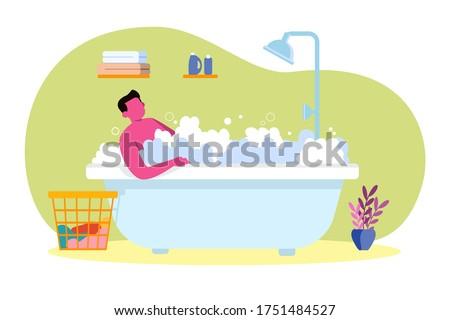 adult men taking a bath in a