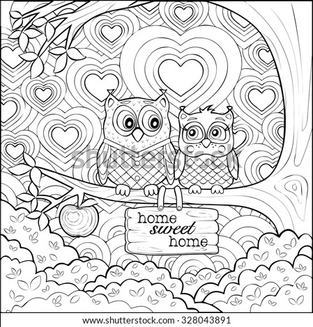 adults coloring page of two